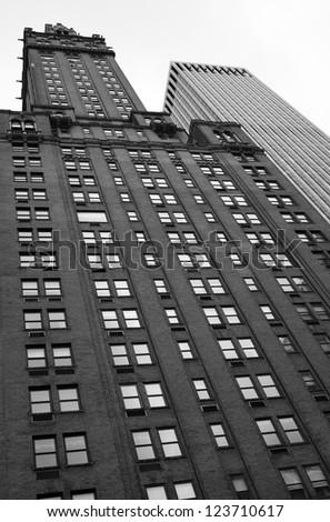 Skyscraper in Manhattan, New York City - stock photo