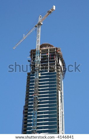 Skyscraper under construction - stock photo