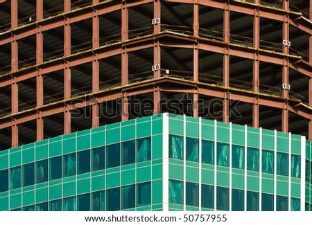 skyscraper under construction - stock photo