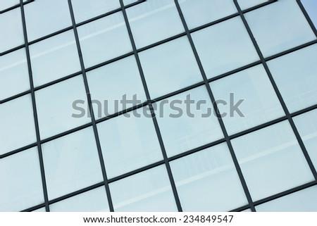 Skyscraper window texture. - stock photo