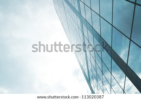 Skyscraper with light for business backgrounds and business explanations - stock photo