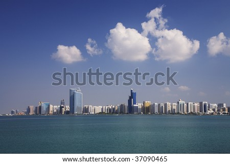 Skyscrapers, Abu Dhabi - stock photo