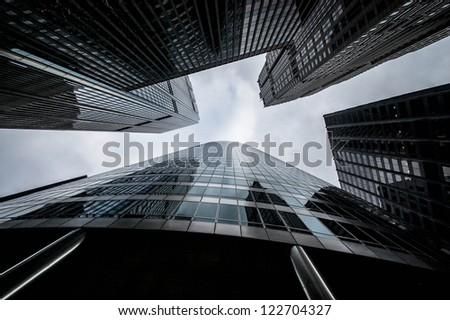 Skyscrapers in Chicago - stock photo