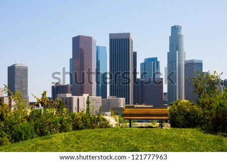 Skyscrapers in  Los Angeles California - stock photo