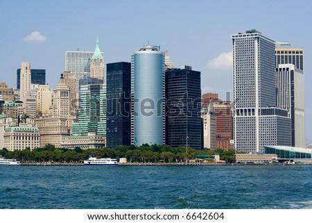 Skyscrapers in New York - stock photo