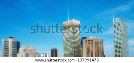 Skyscrapers of Montreal, Quebec. - stock photo