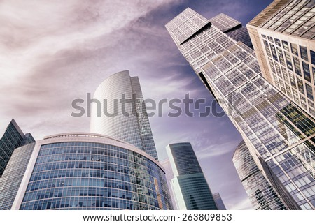 Skyscrapers of Moscow city, Russia - stock photo