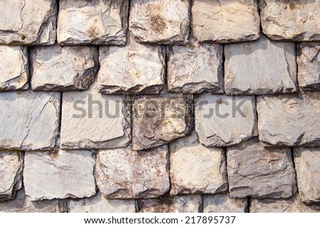 slate roof shingles - stock photo