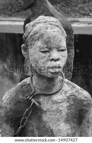 Slavery Memorial in Zanzibar, Tanzania - stock photo