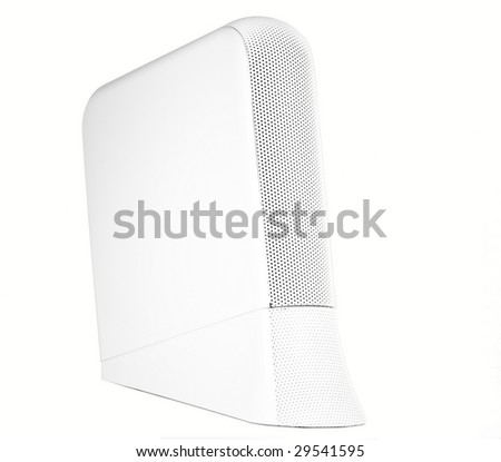Sleek modern external hard drive, isolated. - stock photo