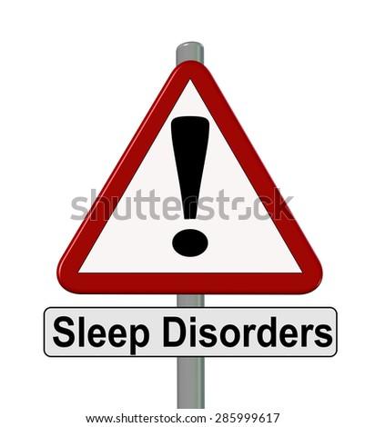 sleep disorders sign - stock photo