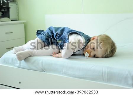 sleeping little child - stock photo