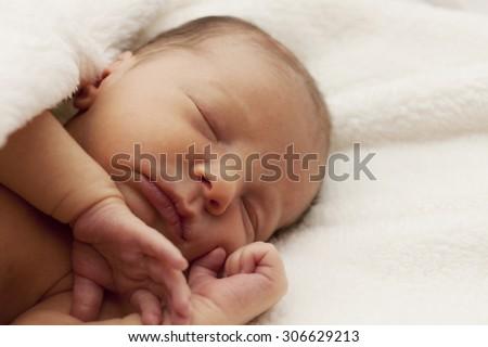Sleeping Newborn - stock photo