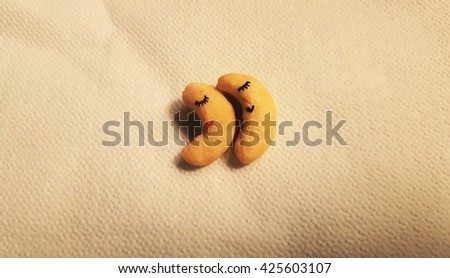 sleepy peanuts - stock photo
