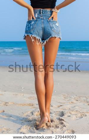 slender back  - stock photo