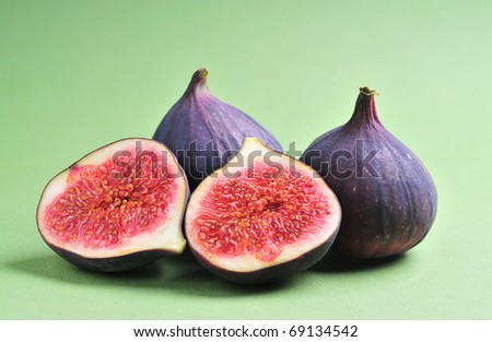 slice fig on  background - stock photo