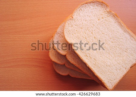 Slice of bread Delicious. For breakfast, snacks, and every time you want to eat. - stock photo
