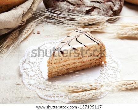 Slice of cake - stock photo