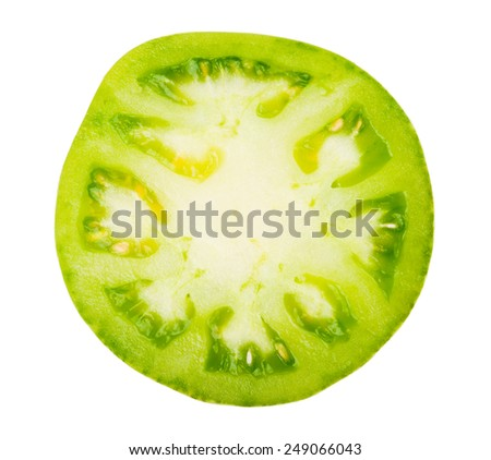 Slice of green tomatoes - stock photo