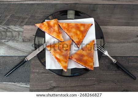 Slice of Homemade Cherry Pie - stock photo