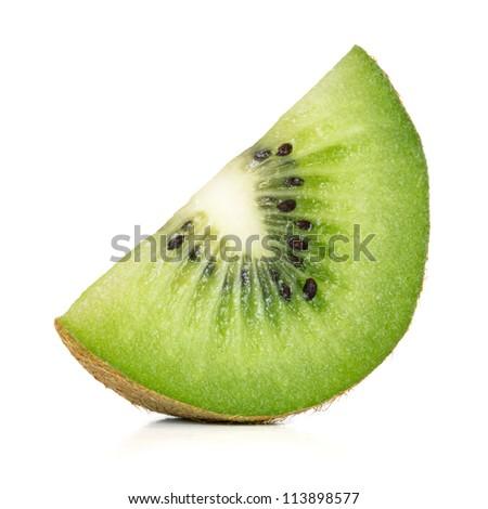 slice of kiwi - stock photo