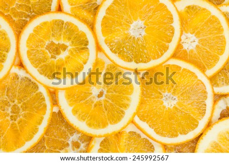 Sliced healthy orange fruits. Orange texture - stock photo