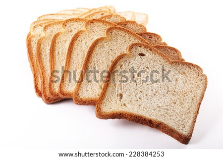 sliced loaf of bread - stock photo