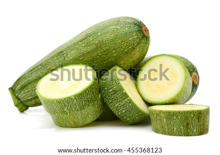 Sliced marrow isolated on a white - stock photo