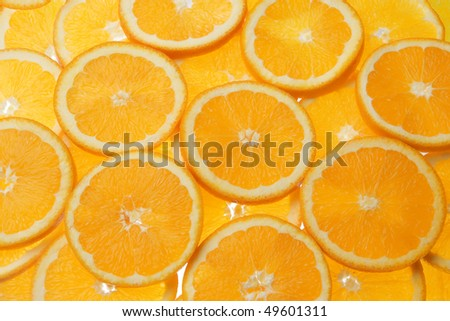 sliced oranges - stock photo