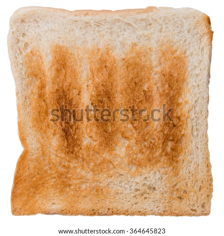 Sliced Toast Bread (isolated on white background) as close-up shot - stock photo