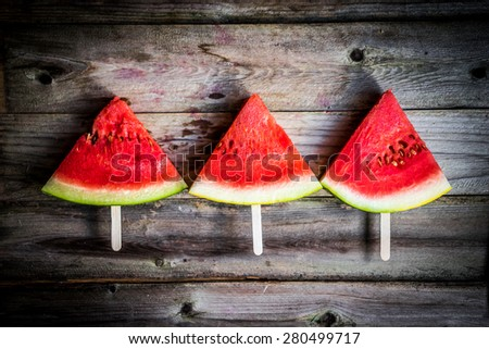 Sliced watermelon - stock photo