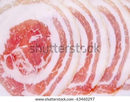 Slices of ham - stock photo