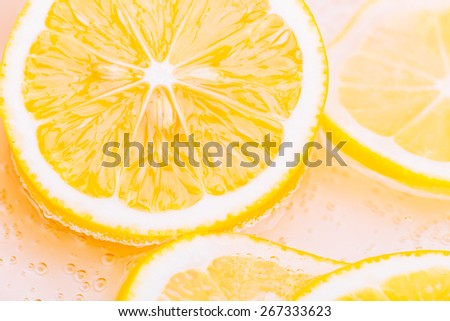 slices of lemon - stock photo