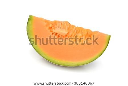 Slices of ripe cantaloupe melon - stock photo