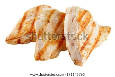 Slices of roasted turkish breast. - stock photo