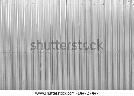 slide partition made from zincs - stock photo