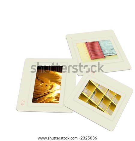 Slides - stock photo