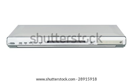 Slim Silver Single DVD player - stock photo