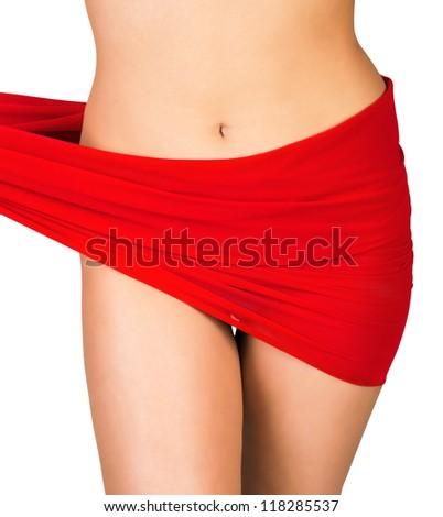 slim woman body - stock photo
