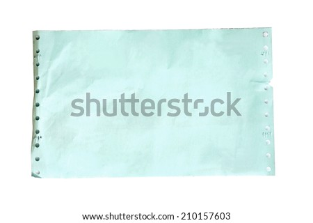 slip paper, carbon paper isolate on white background - stock photo