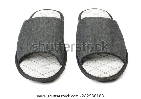 Slippers front view isolated - stock photo