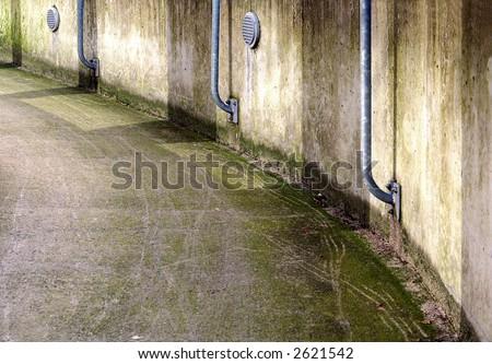 Slippery walk-way. - stock photo