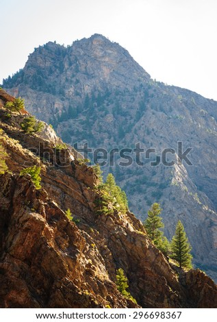 Slope and Summit at Curecanti National Recreation Area - stock photo