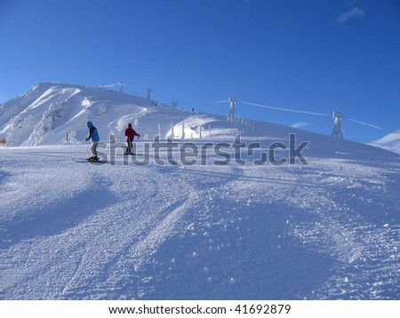 slope of Jasna ski resort - stock photo