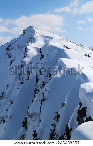 Slopes of Rippetegg peak, Austria - stock photo