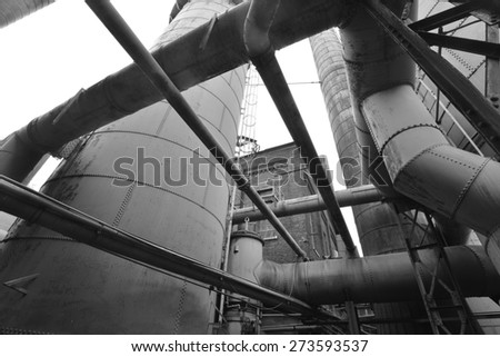 Sloss furnace in Birmingham, Alabama, USA - stock photo