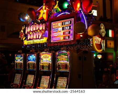 slot machine - stock photo