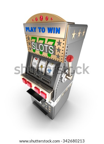 Slot machine, gamble machine.  - stock photo