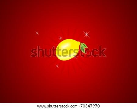 slot machine lemon - stock photo