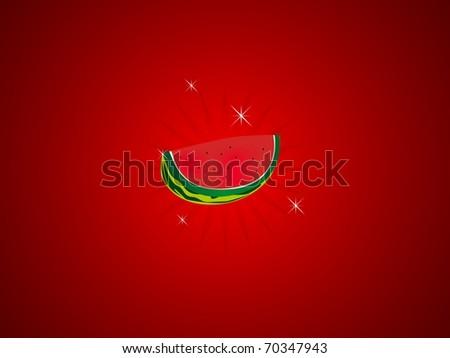 slot machine water melon - stock photo